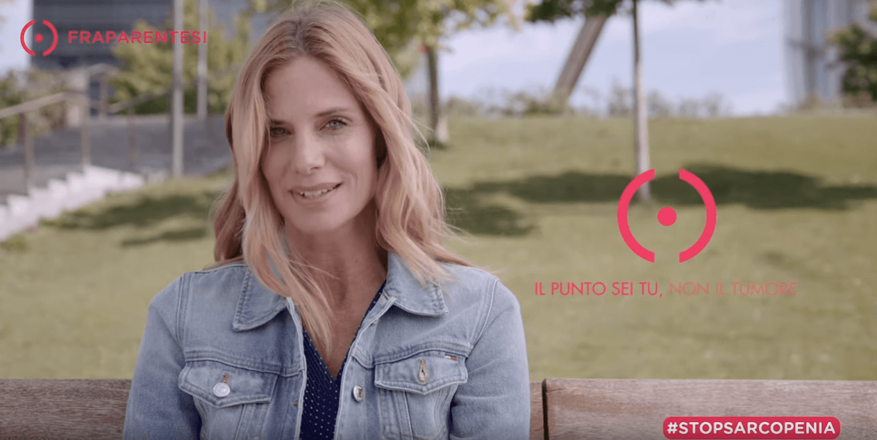 Fraparentesi campagna stop sarcopenia con Filippa Lagerback