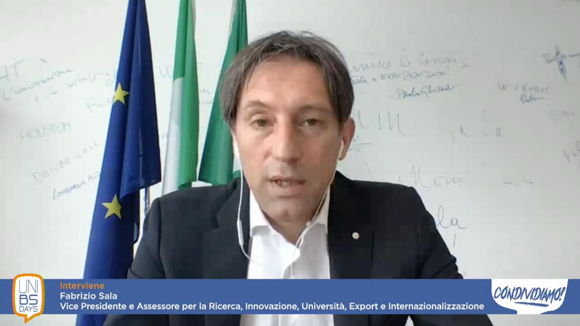 Fabrizio Sala, Vice presidente e assessore per la Ricerca, Innovazione, Università, Export e Internazionalizzazione